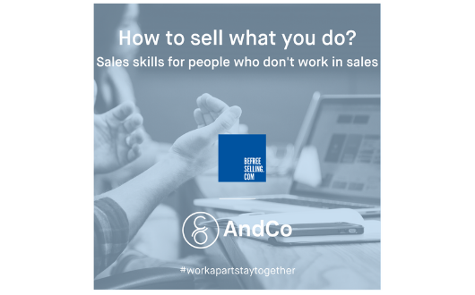 How to sell what you do?  Sales Skills for people who don't work in Sales.