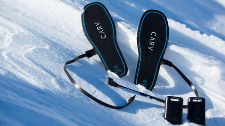 Carv, wearable ski boot insert